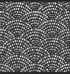 monochrome mosaic arched fish scale seamless vector image
