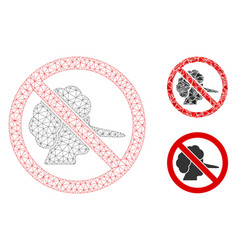 no faker mesh carcass model and triangle vector image