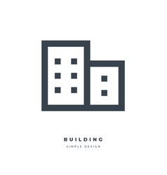 office building thin line icon vector image