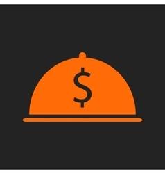 Orange restaurant business icon vector