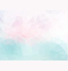 Polygonal pink blue pattern vector