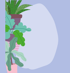 Potted plants foliage leaves vegetation decoration vector