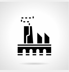 Power industry glyph style icon vector