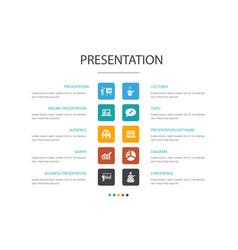 Presentation infographic 10 option concept vector