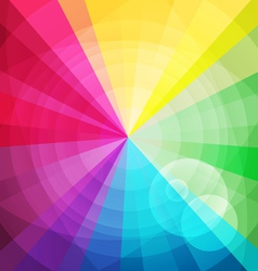 Rainbow bright background with rays2 vector