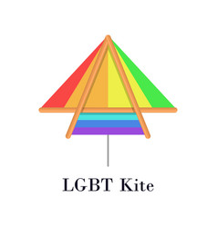 rainbow lgbt kite flat icon or logo for homosexual vector image