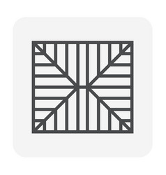 Roof structure icon vector