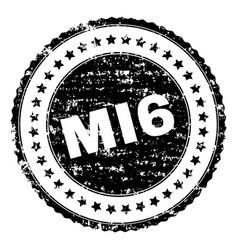 scratched textured mi6 stamp seal vector image
