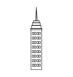 skyscraper building antenna roof commercial vector image