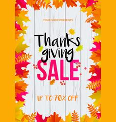 thanksgiving sale web banner september shopping vector image