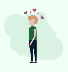the girl thinks about love vector image