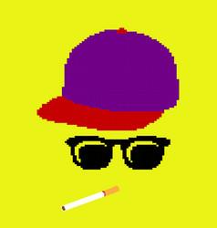 Thug life pixelated vector