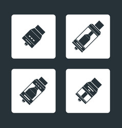 Vaporizer atomizers types icons vector