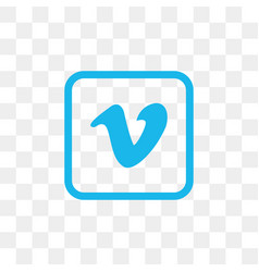 vimeo social media icon design template vector image