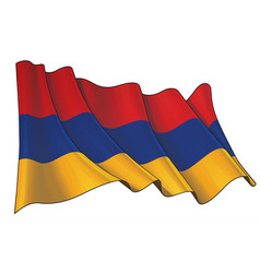 Waving flag armenia vector