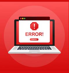 Window operating system error warning vector