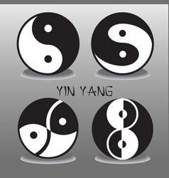 Yin Yang collection vector image