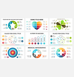 circle arrows linear infographic cycle vector image