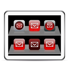 E-mail red app icons vector image vector image