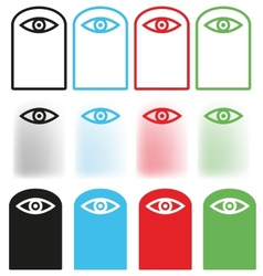 Eye icon Set vector image vector image