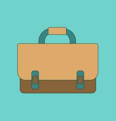 flat icon thin lines school bag vector image