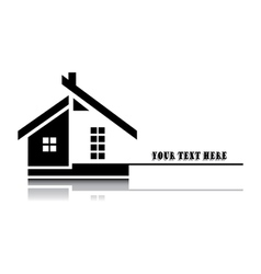 home on white background vector image