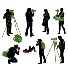 Photographer 2 vector image vector image