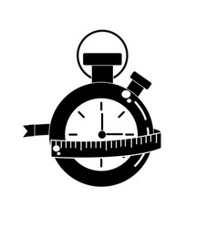 Contour chronometer with measuring to practice vector