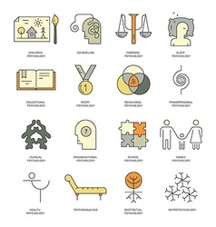 Counseling icons vector