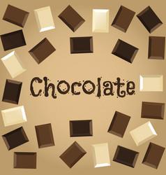 dark white and milk chocolate vector image vector image