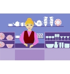 seller indishes shop vector image vector image