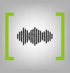 sound waves icon black scribble icon in vector image vector image