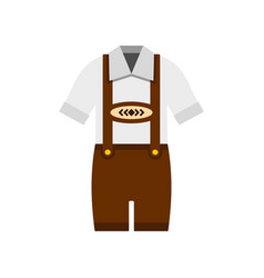 traditional bavarian men suit icon flat style vector image