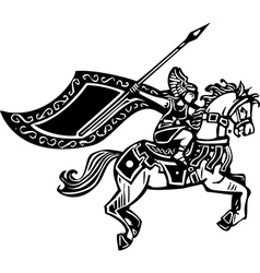 Valkyrie on Horse vector image vector image