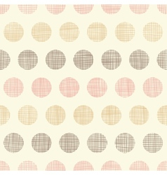 Vintage textile polka dots seamless pattern vector image
