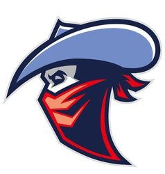cowboy bandit mascot vector image