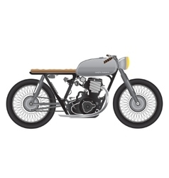 Old vintage motorcycle metallic color cafe racer vector