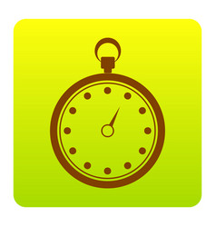stopwatch sign brown icon at vector image vector image
