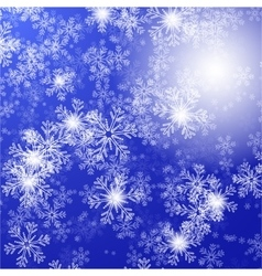 blue background with christmas stars and vector image