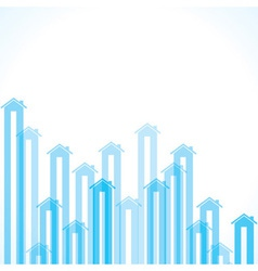 Blue home background vector image vector image