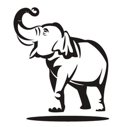 elephant graphic vector image vector image