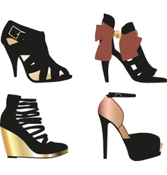 Glamour Shoes vector image