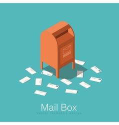 Isometric mail box vector image