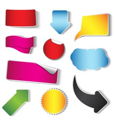 sticker and tag collection vector image