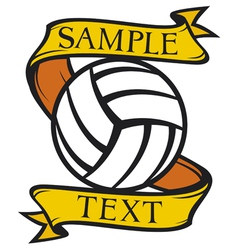 volleyball club emblem vector image vector image
