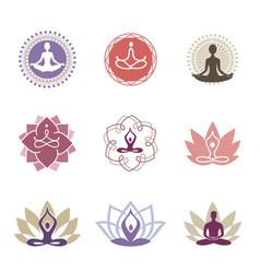 Yoga logos vector