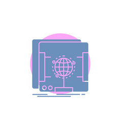 3d dimensional holographic scan scanner glyph icon vector image