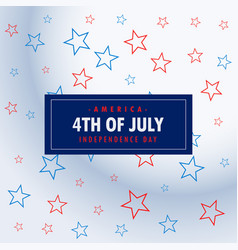 4th july silver background vector image