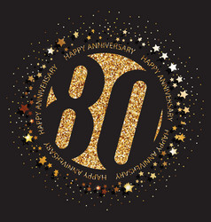 80th birthday logo vector