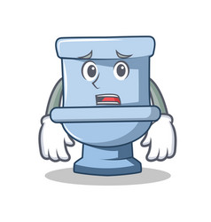 Afraid toilet character cartoon style vector